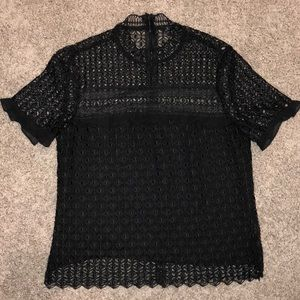 Black lace Zara top with lining